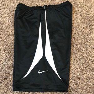 Boys black Nike basketball shorts